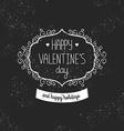 Vintage love card happy valentines day vector