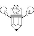 Cartoon pencil boxing vector