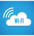 Wi-fi cloud emblem icon vector