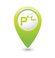 Parking under supervision icon map pointer green vector