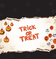 Halloween trick or treat paper vector