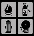 Fire signals vector