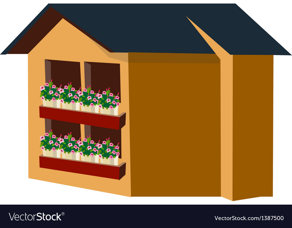 A view of a house vector | Price: 1 Credit (USD $1)