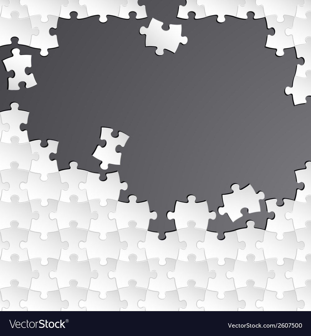 Abstract white group puzzle with black background vector | Price: 1 Credit (USD $1)