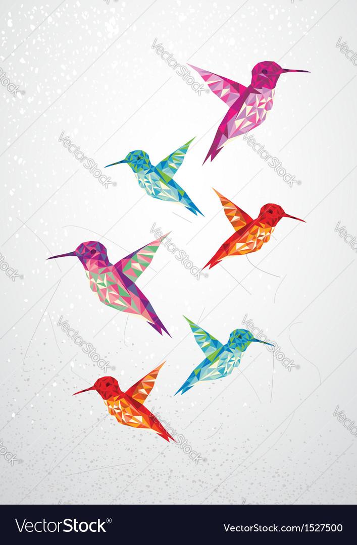 Beautiful humming birds vector | Price: 1 Credit (USD $1)