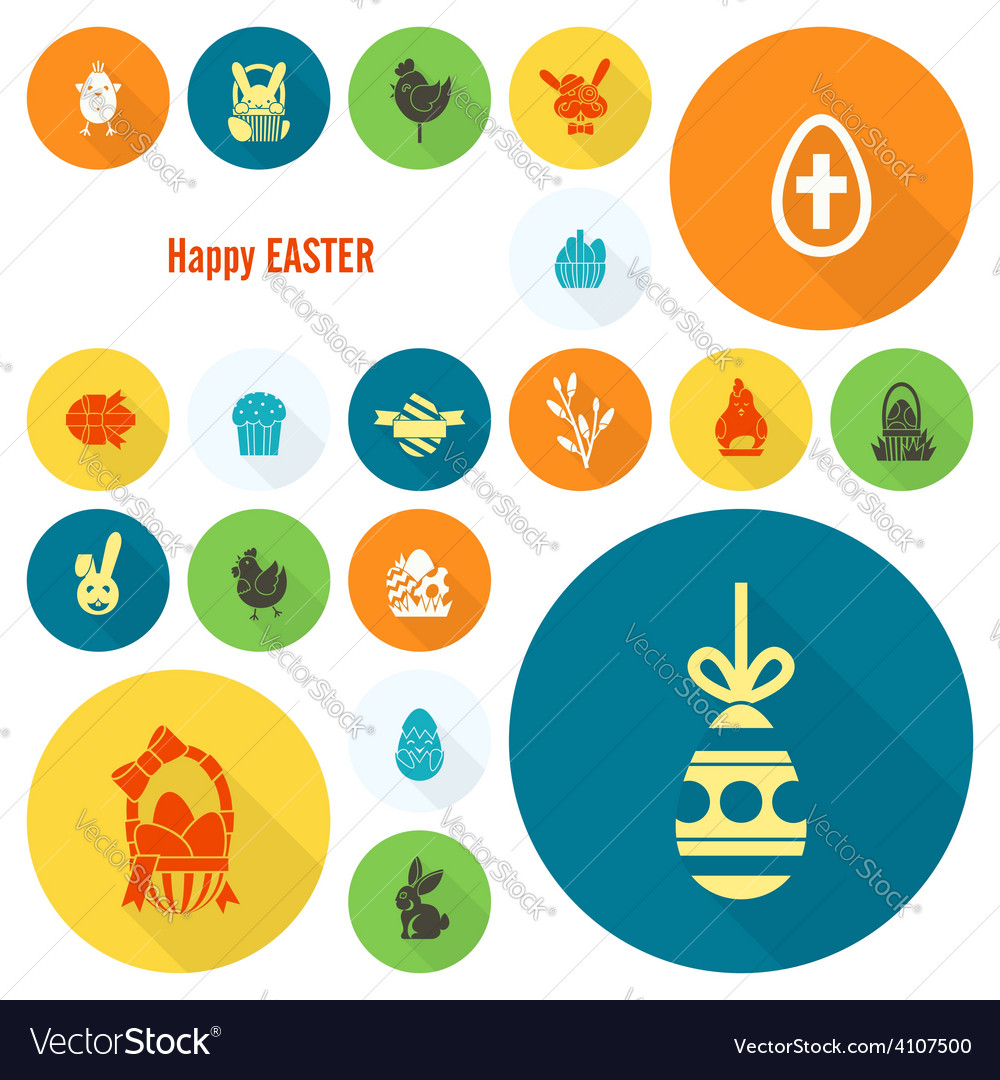 Celebration easter icons vector   Price: 1 Credit (USD $1)