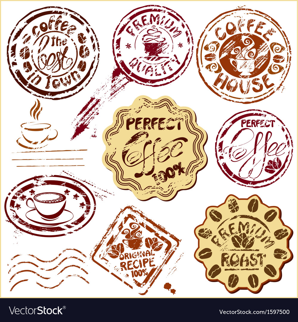 Collection of design elements - coffee cups icons vector | Price: 1 Credit (USD $1)