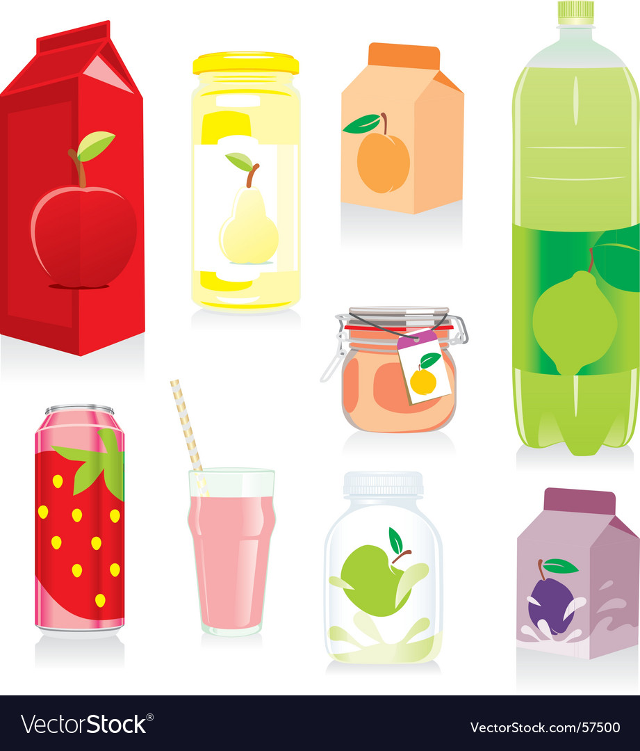 Fruit containers vector | Price: 3 Credit (USD $3)