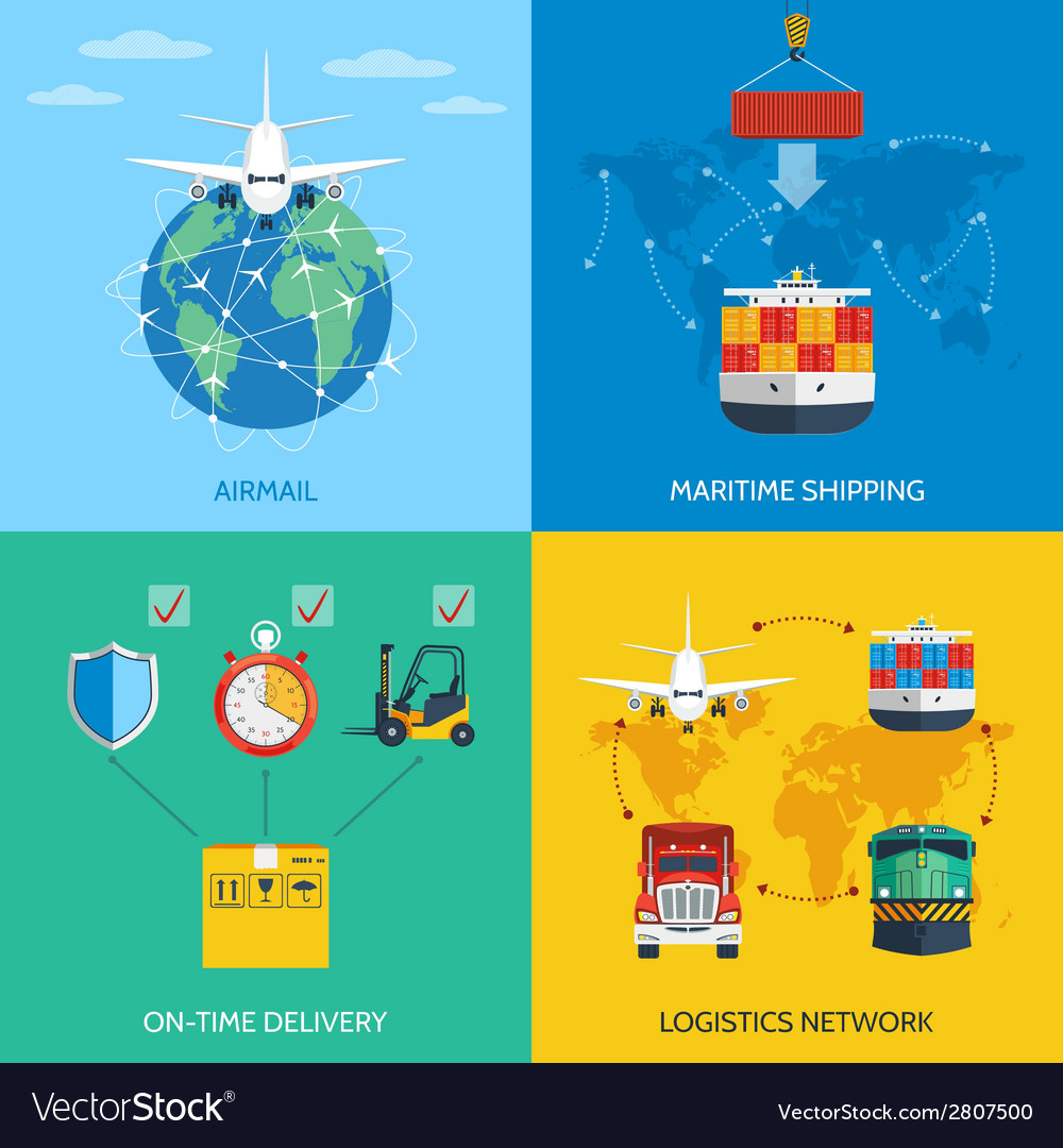 Logistic concept set vector | Price: 1 Credit (USD $1)