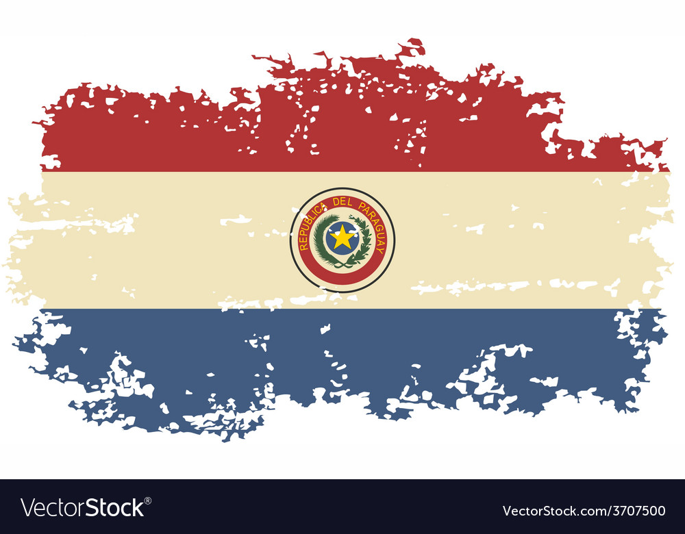 Paraguayan grunge flag vector | Price: 1 Credit (USD $1)
