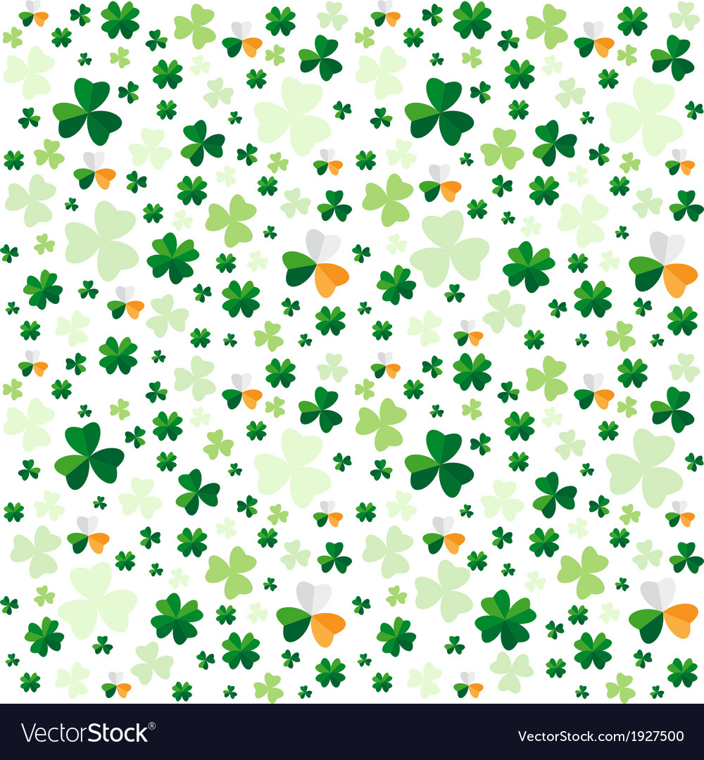 Seamless pattern from clover leaves vector   Price: 1 Credit (USD $1)