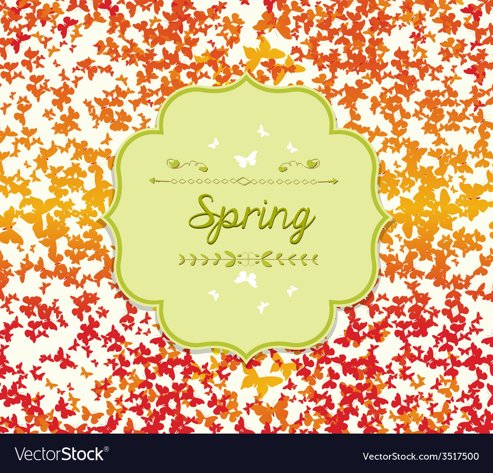 Spring background with colorful butterflies vector | Price: 1 Credit (USD $1)