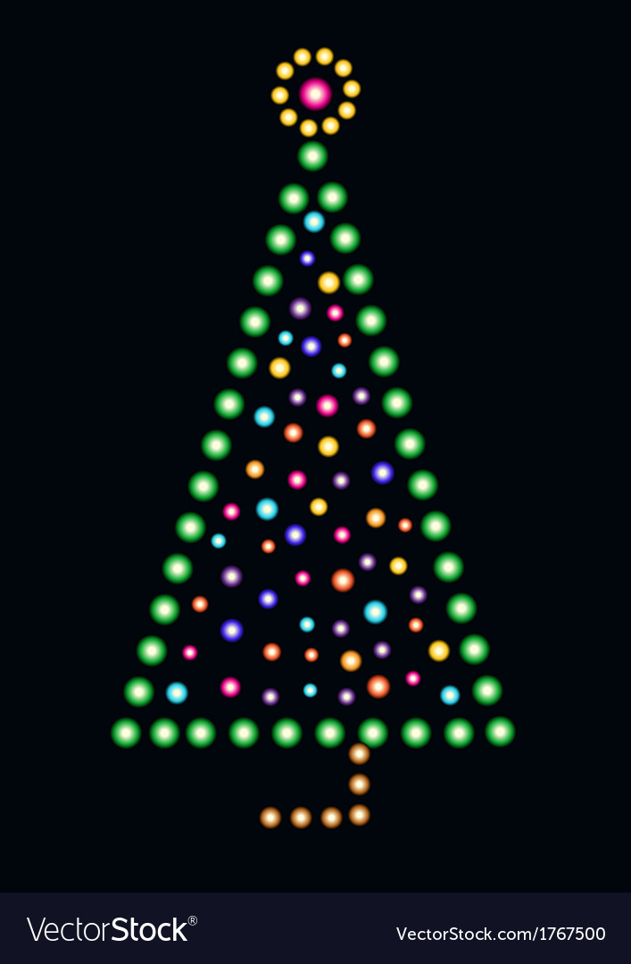 Stylized christmas tree vector | Price: 1 Credit (USD $1)