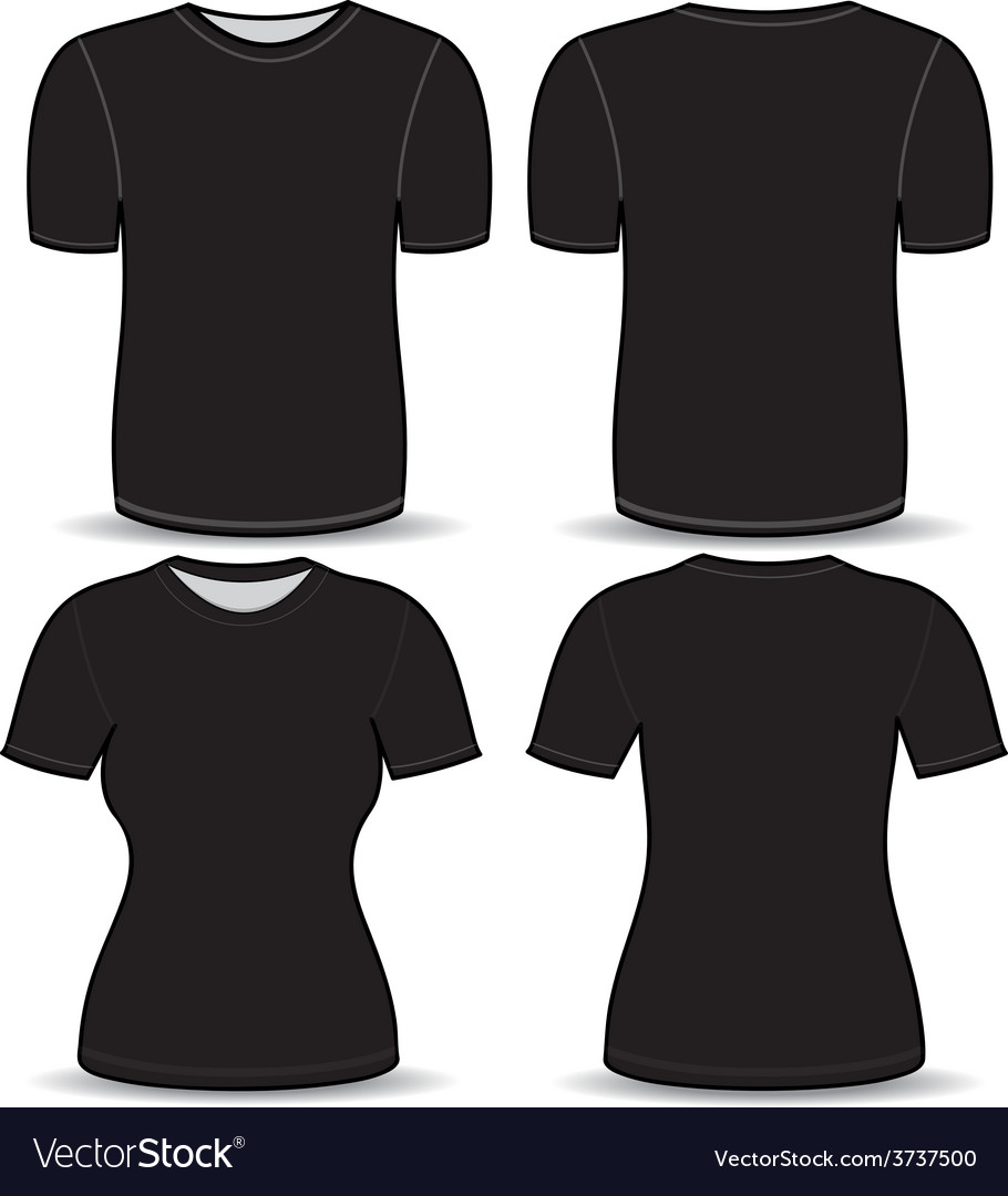 T shirt black template vector | Price: 1 Credit (USD $1)