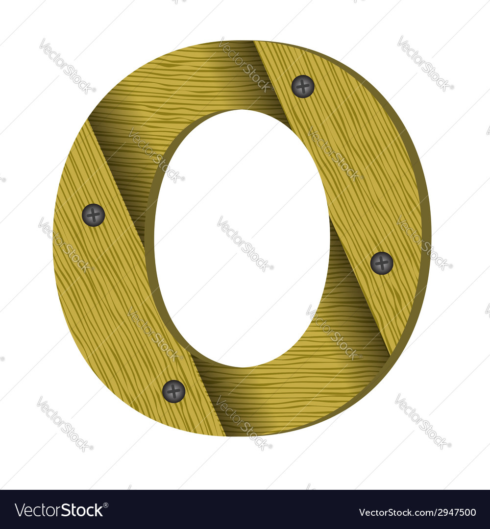 Wood letter o vector | Price: 1 Credit (USD $1)