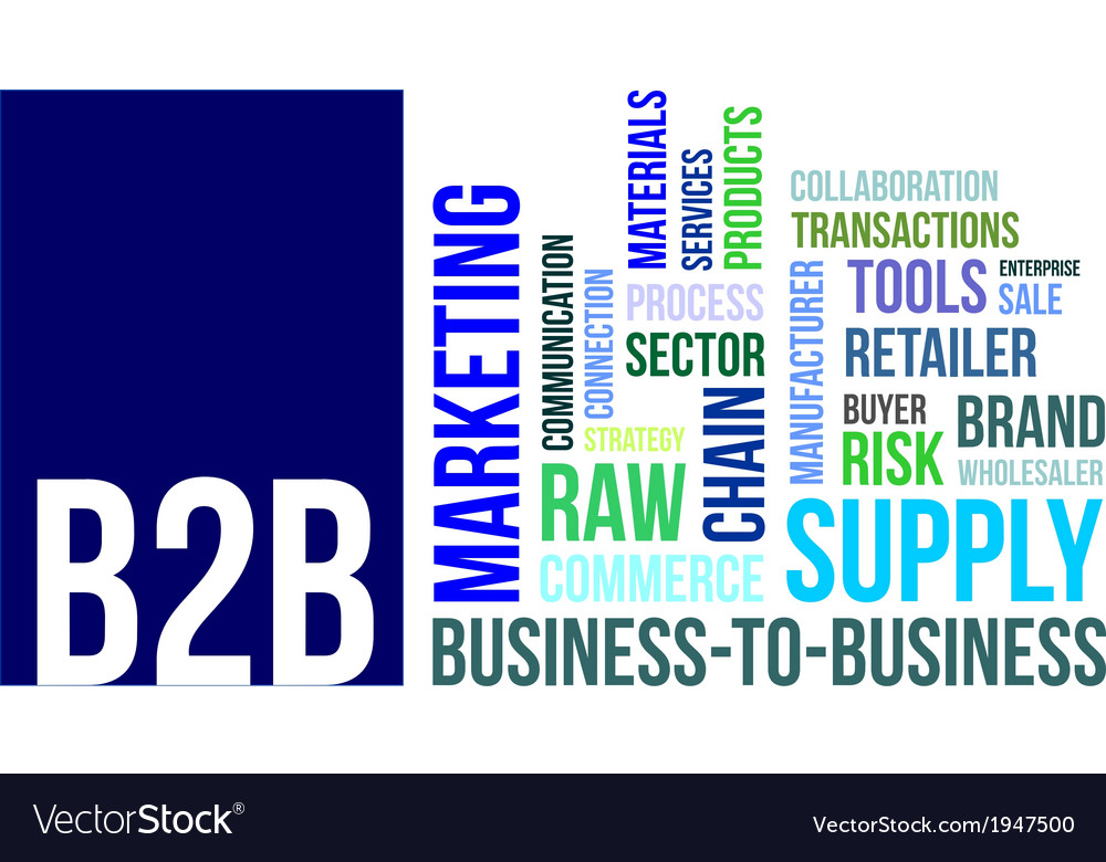 Word cloud b2b vector | Price: 1 Credit (USD $1)