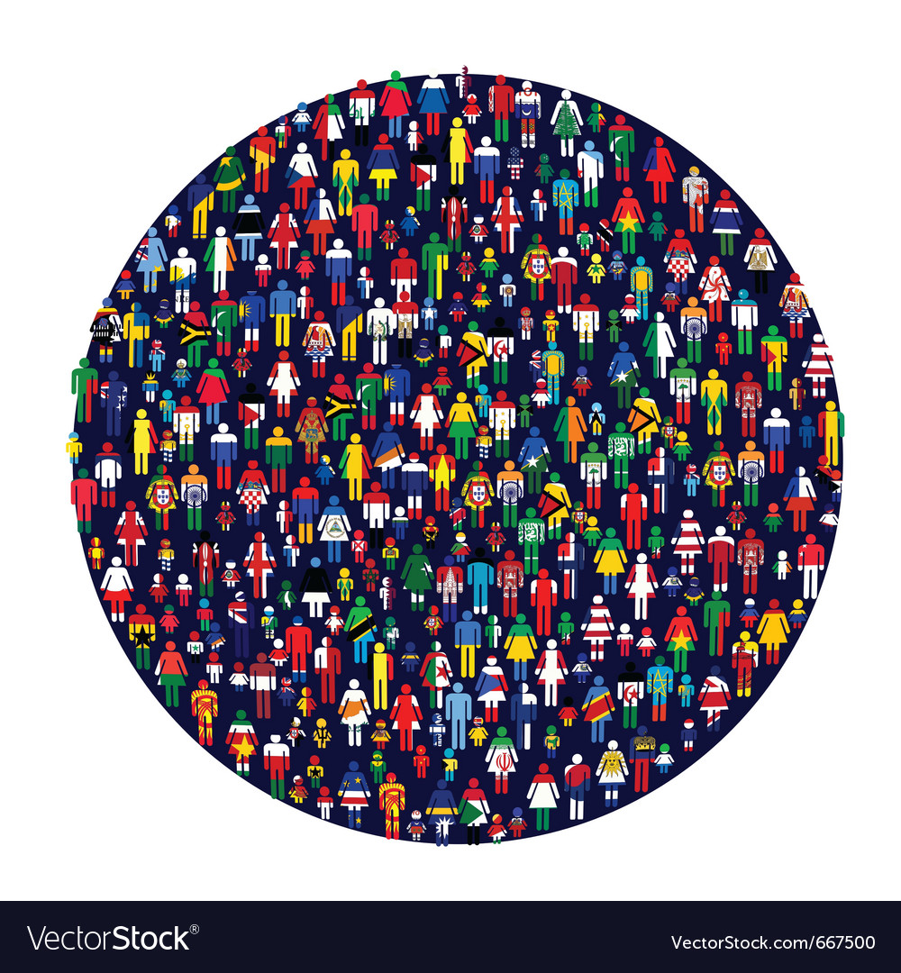 Worldwide people vector | Price: 1 Credit (USD $1)