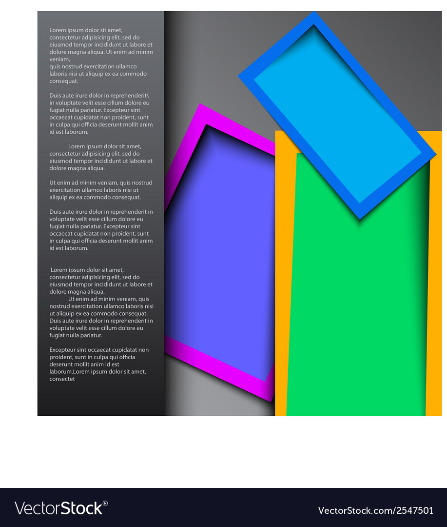 Abstract rounded rectange text boxes with colorful vector | Price: 1 Credit (USD $1)