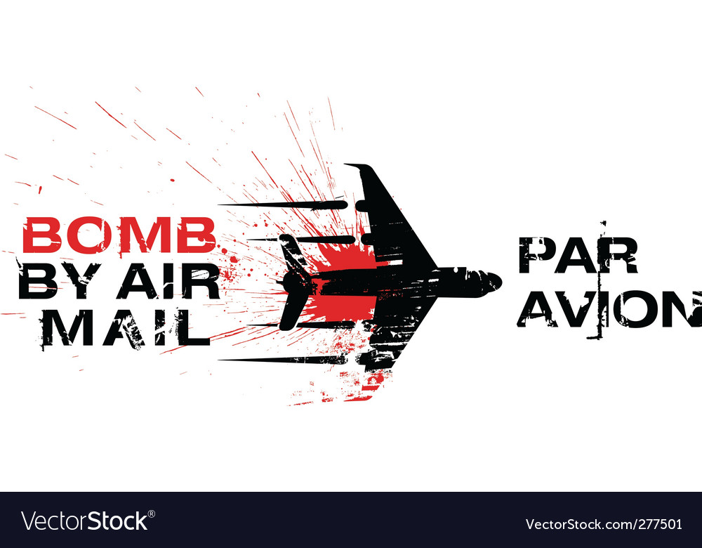 Bomb by air mail vector | Price: 1 Credit (USD $1)