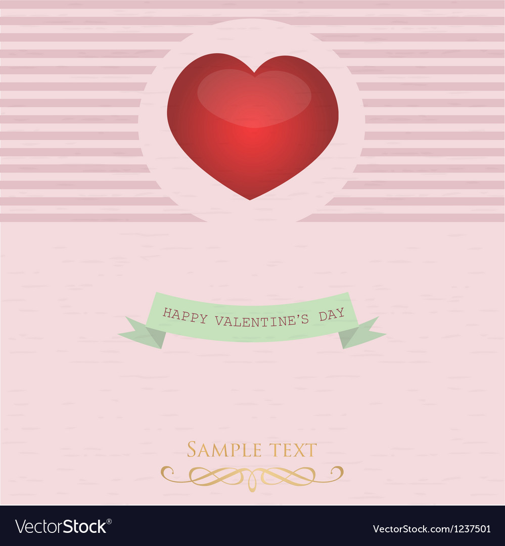 Card with valentine s day vector | Price: 1 Credit (USD $1)