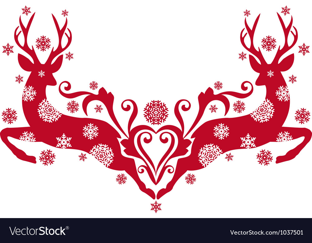 Christmas deers vector | Price: 1 Credit (USD $1)