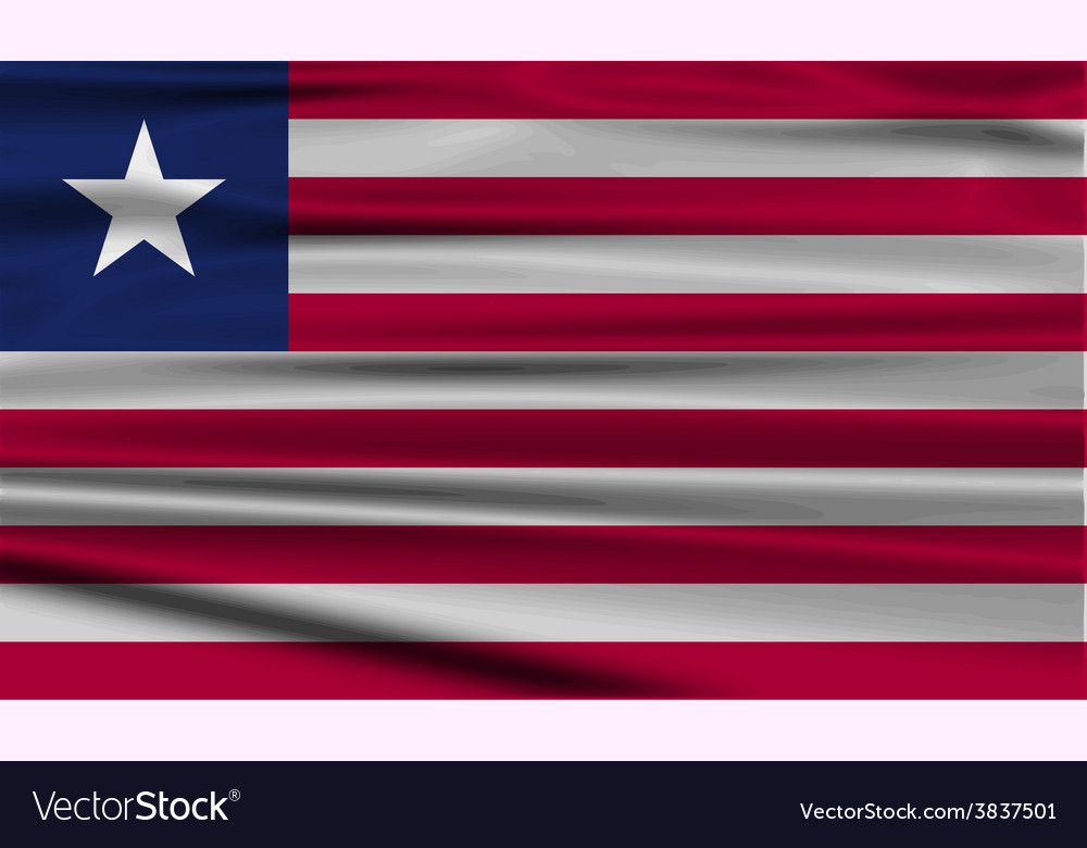 Flag of liberia with old texture vector   Price: 1 Credit (USD $1)