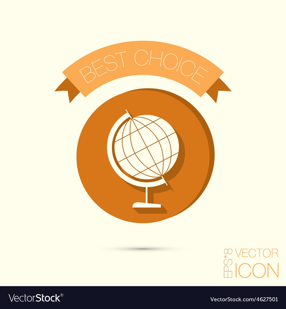 Globe symbol icon geography the study of the vector | Price: 1 Credit (USD $1)