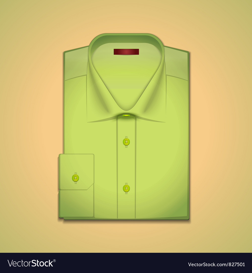 Green classic mens shirt vector | Price: 3 Credit (USD $3)