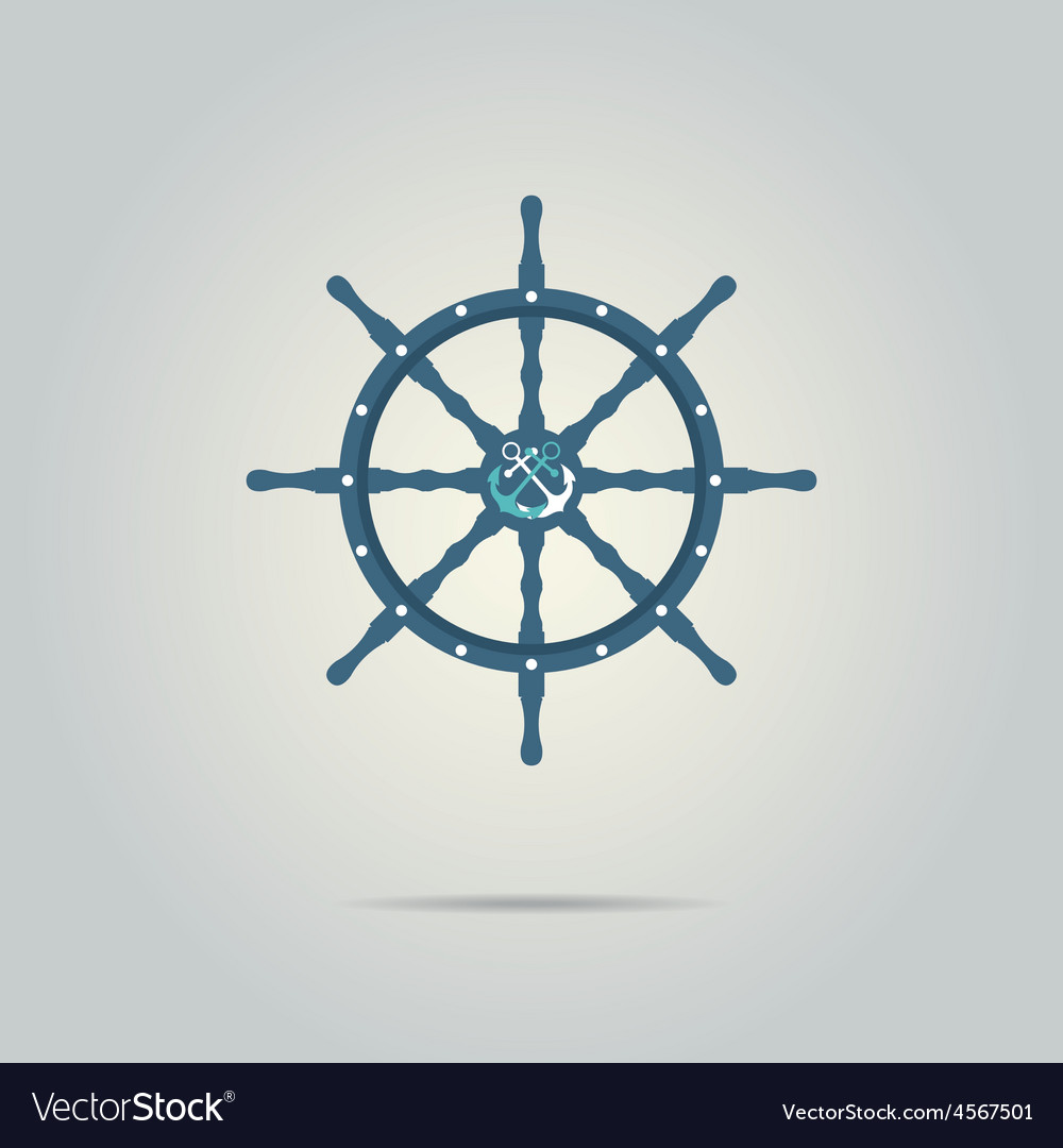 Helm captain isolated icon vector | Price: 1 Credit (USD $1)