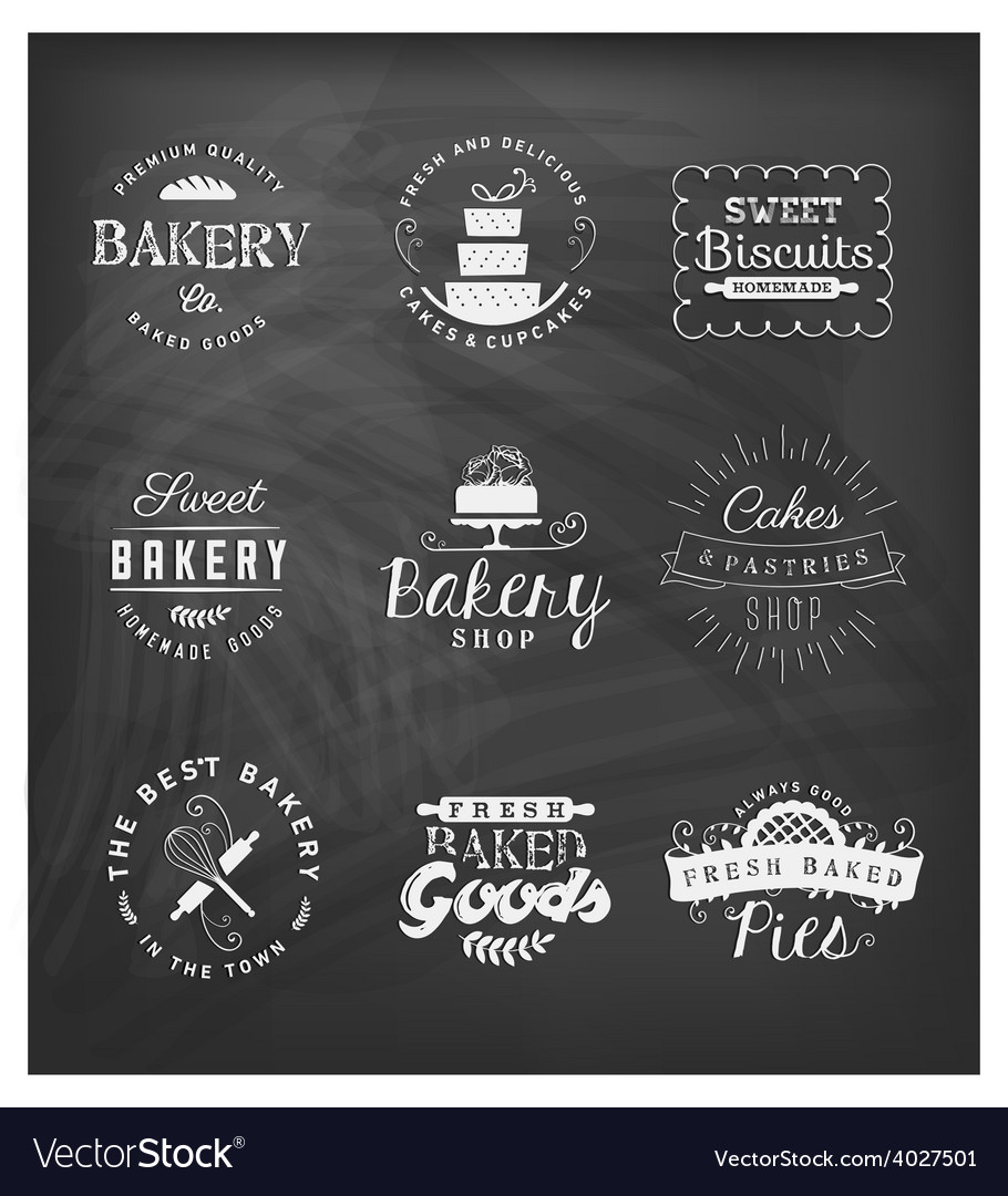 Typographical bakery badges and design elements vector | Price: 1 Credit (USD $1)