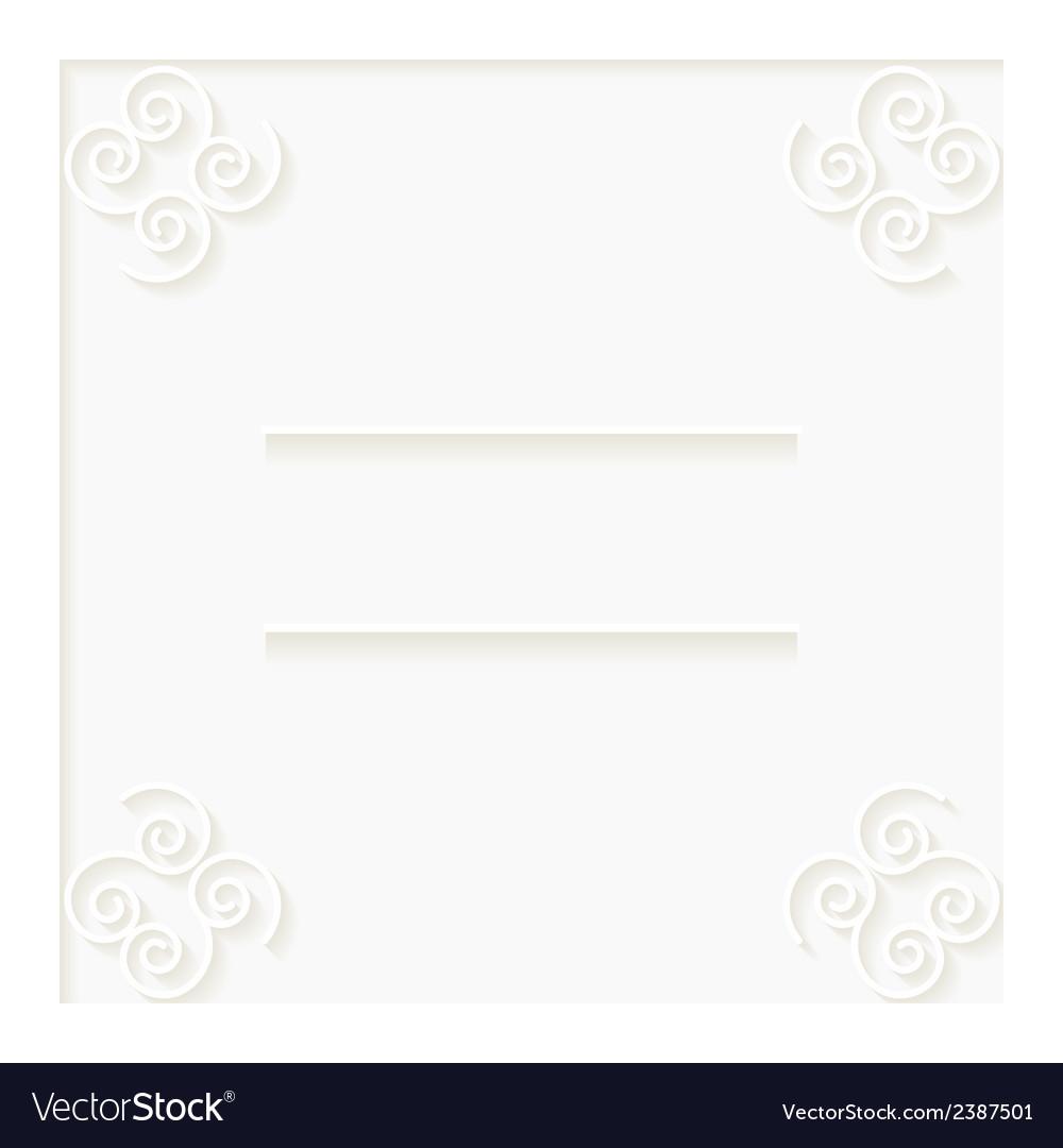 White invitation card vector | Price: 1 Credit (USD $1)