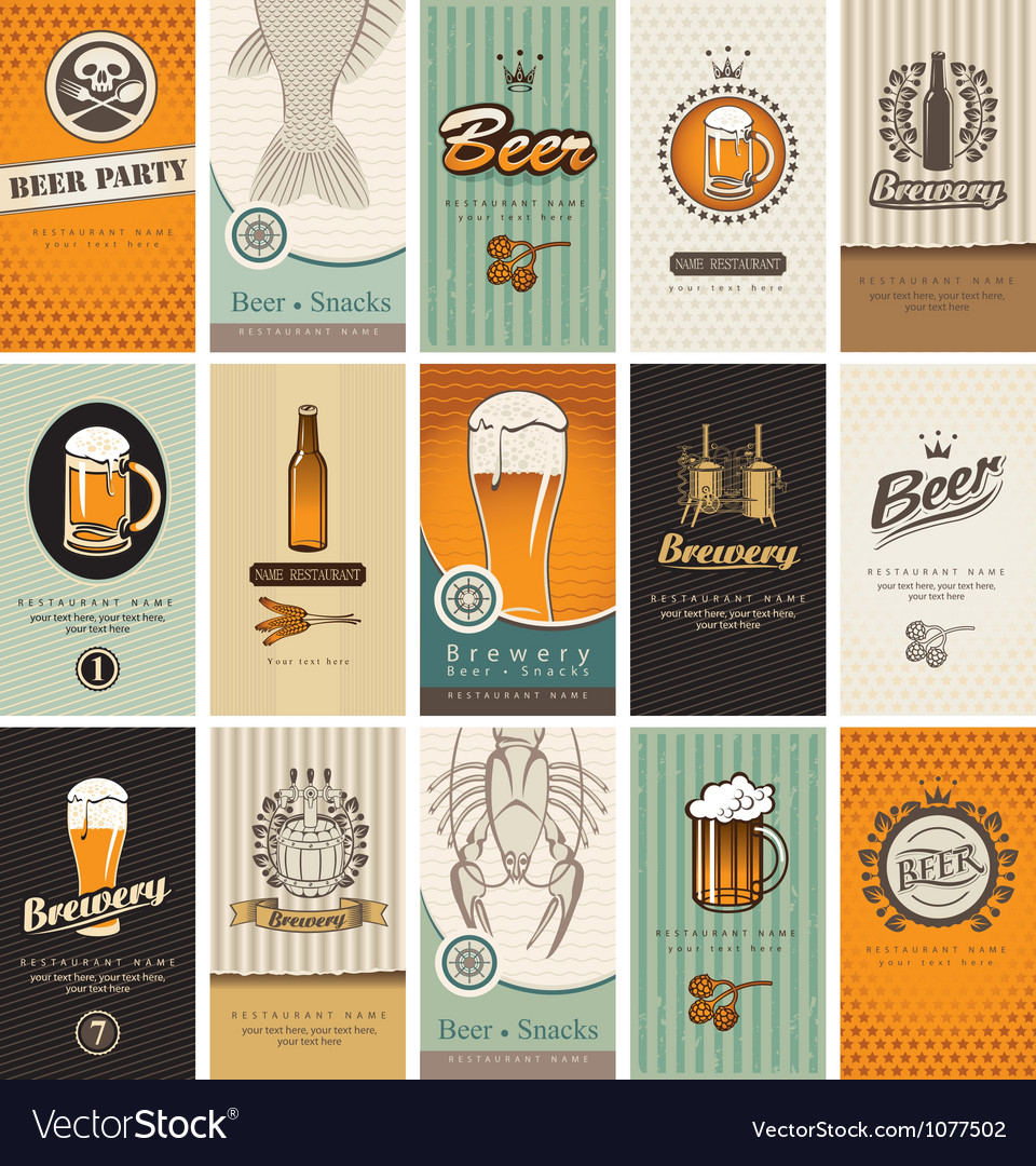Beer card vector | Price: 3 Credit (USD $3)