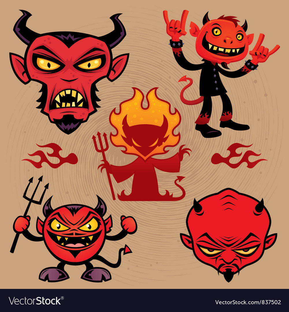 Cartoon devil collection vector | Price: 3 Credit (USD $3)