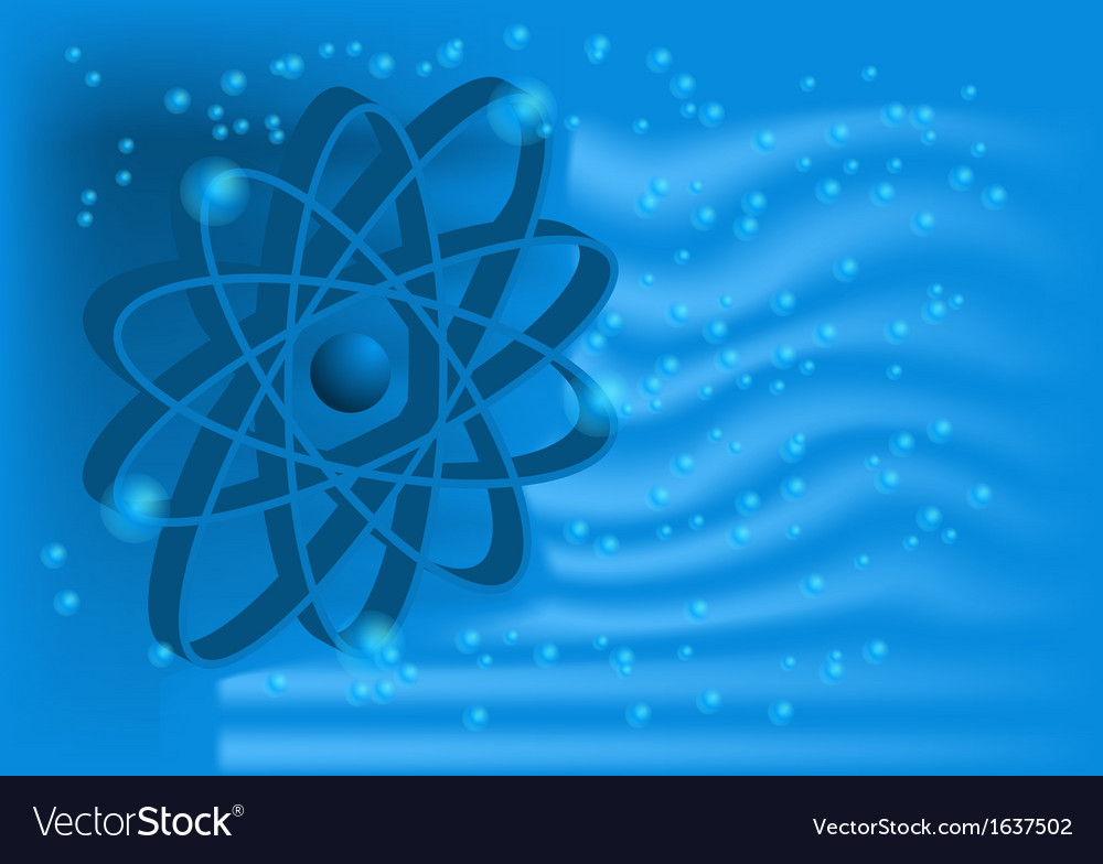 Electron on a blue vector | Price: 1 Credit (USD $1)