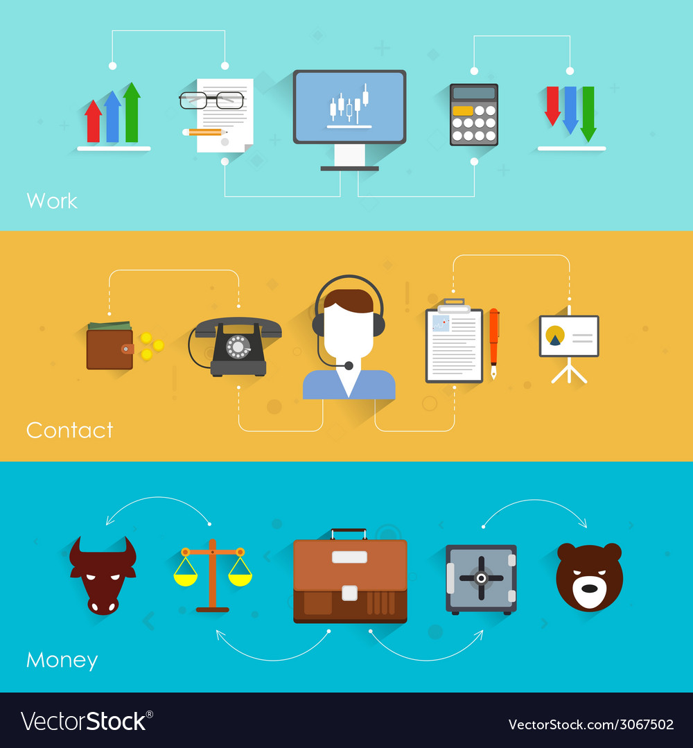 Finance exchange banner vector | Price: 1 Credit (USD $1)