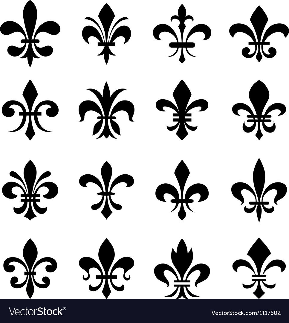Fleur de lis set vector | Price: 1 Credit (USD $1)