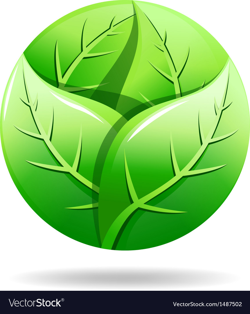 Green eco logo vector | Price: 1 Credit (USD $1)