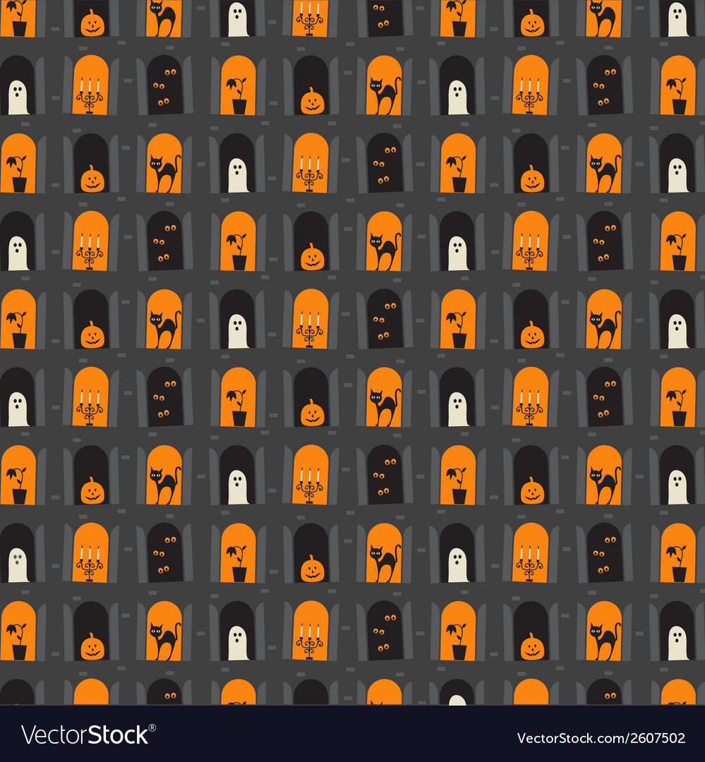 Halloween windows vector | Price: 1 Credit (USD $1)