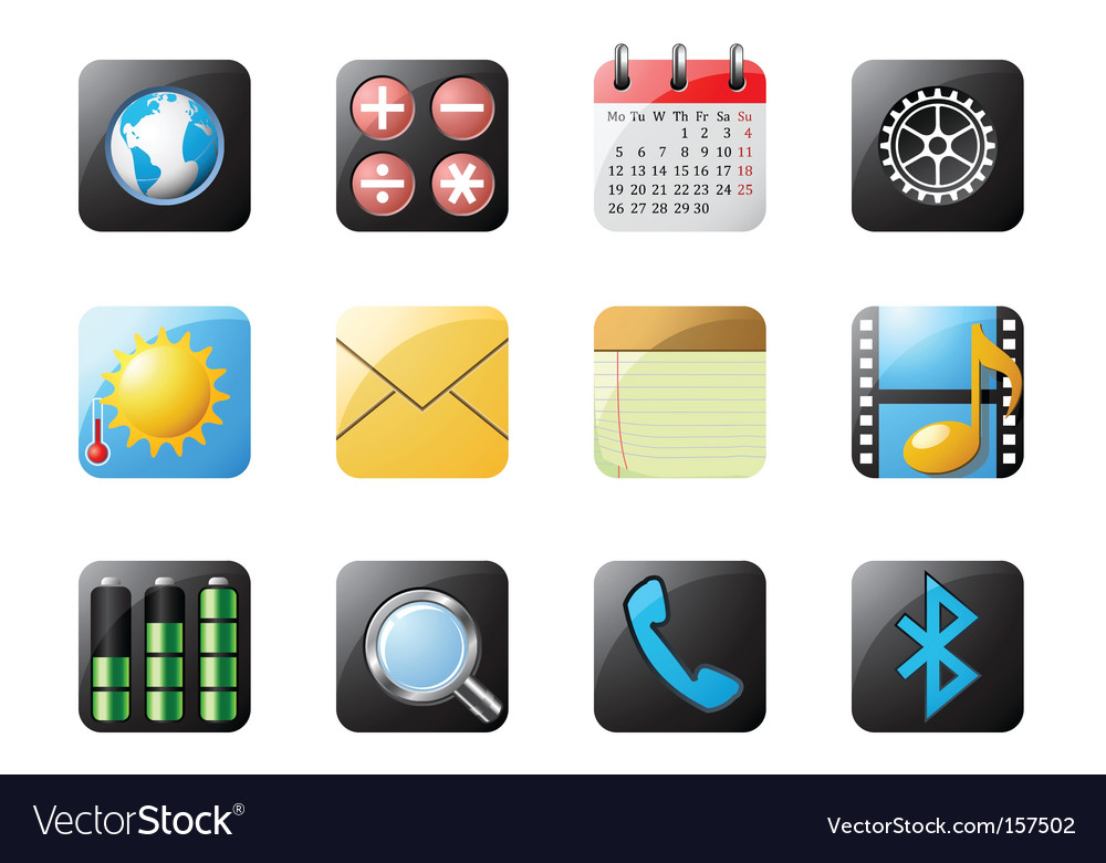 Mobile phone buttons vector | Price: 3 Credit (USD $3)