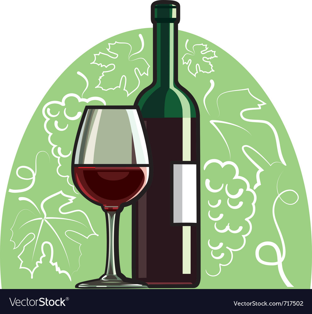 Red wine vector | Price: 3 Credit (USD $3)