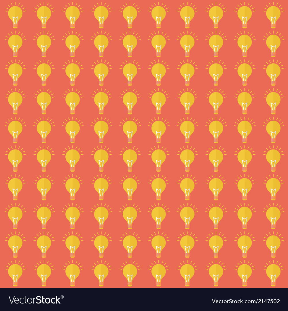 Seamless pattern with bulb flat design vector | Price: 1 Credit (USD $1)
