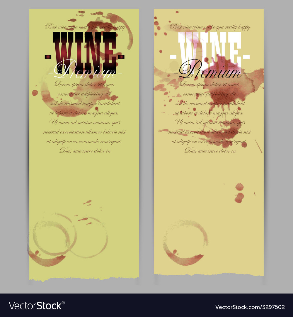 Set of wine labels vector | Price: 1 Credit (USD $1)