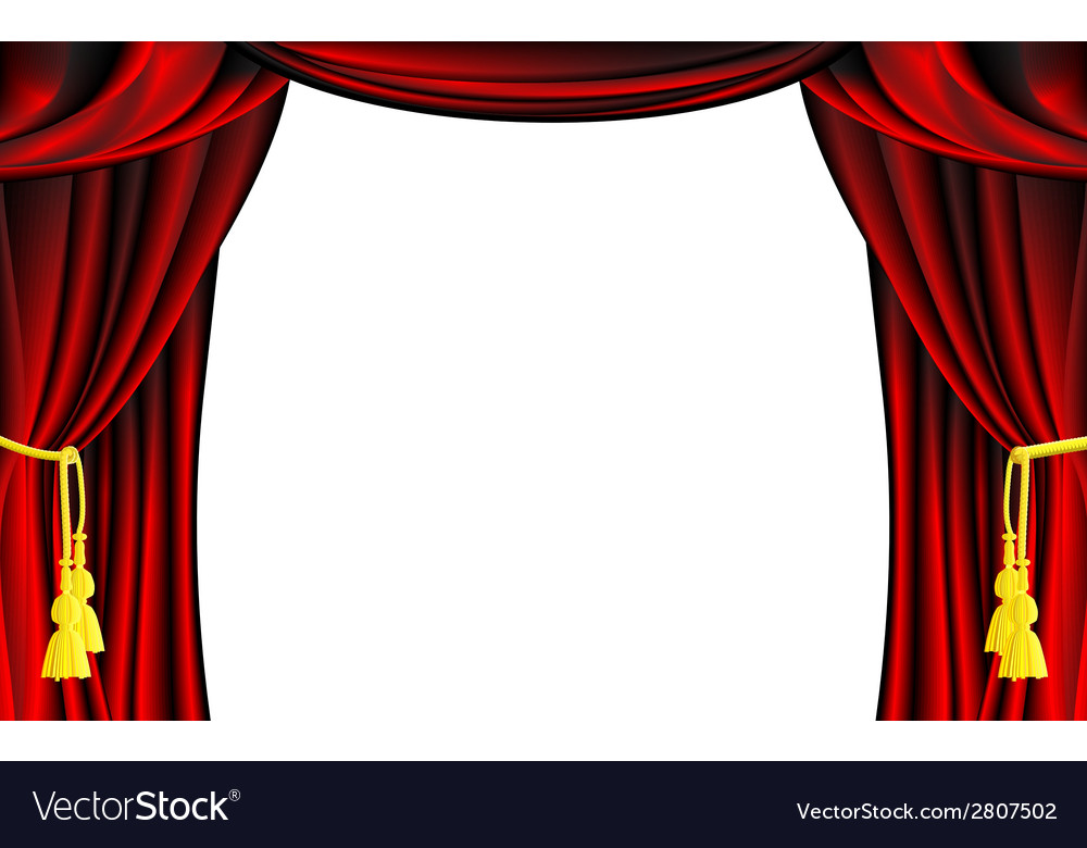 Theater curtain vector | Price: 1 Credit (USD $1)