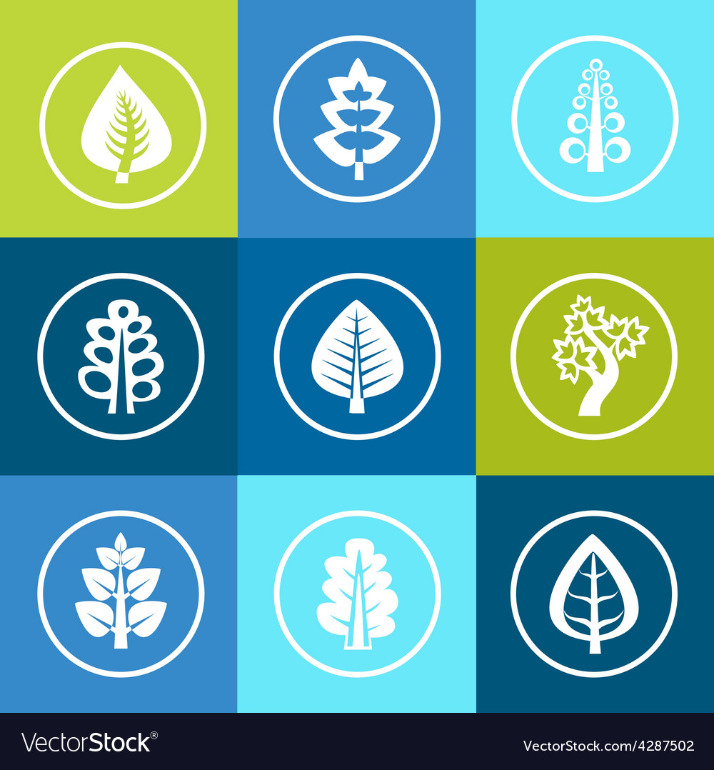 Trees icons vector | Price: 1 Credit (USD $1)