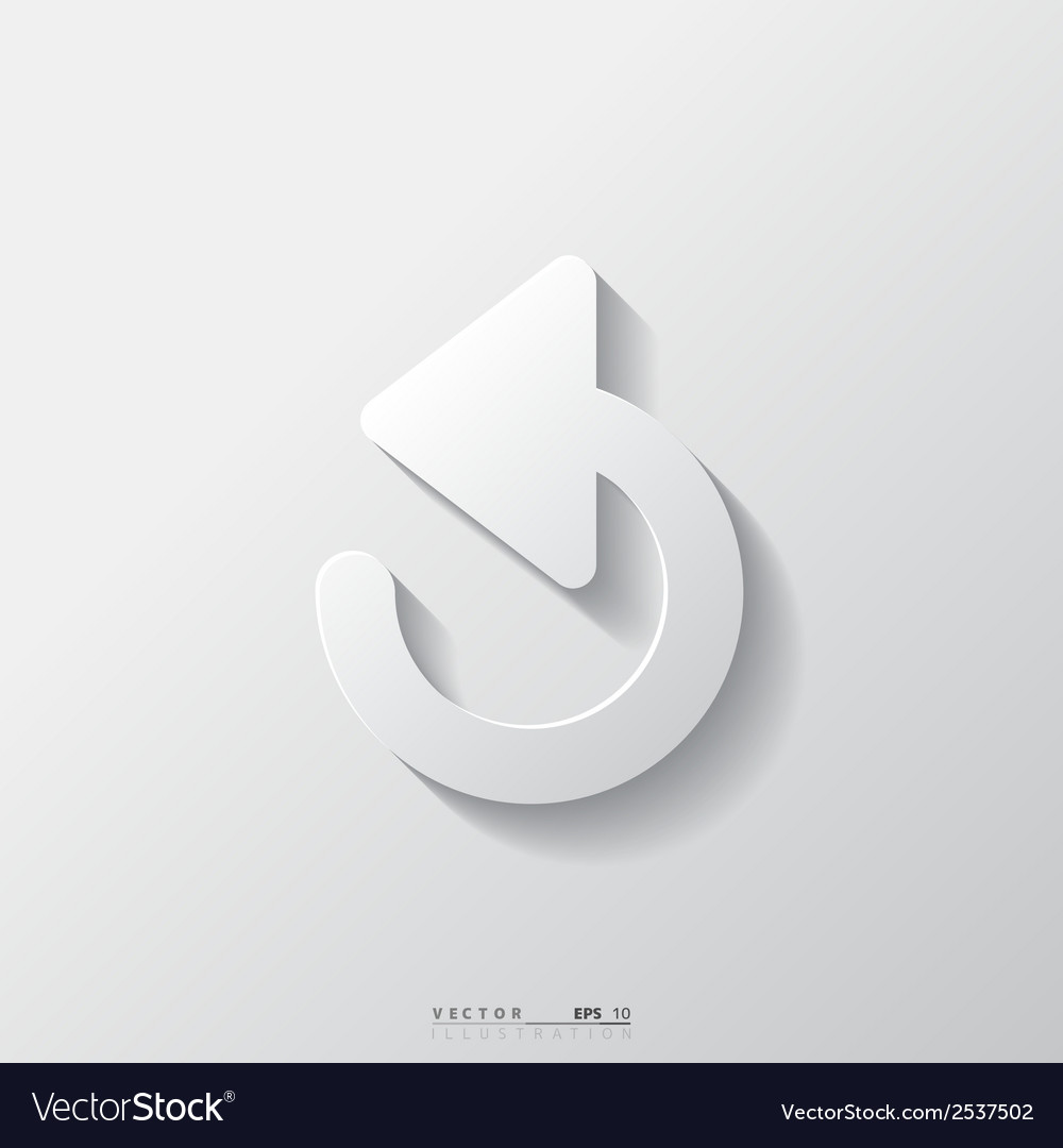Undo icon back arrow symbol vector | Price: 1 Credit (USD $1)