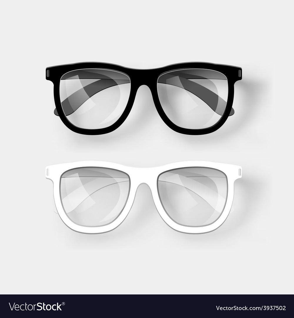 White and black glasses vector | Price: 3 Credit (USD $3)