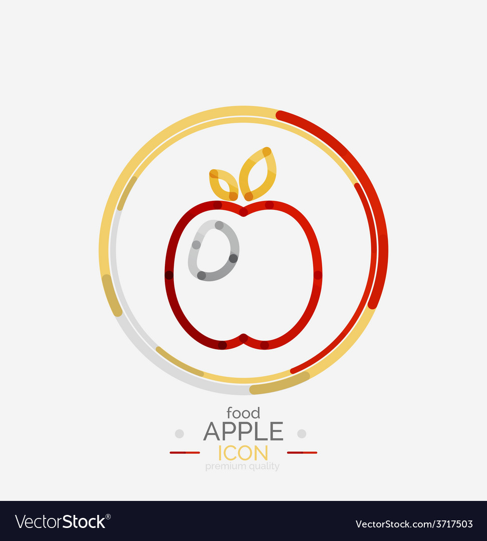 Apple logo concept stamp vector | Price: 1 Credit (USD $1)