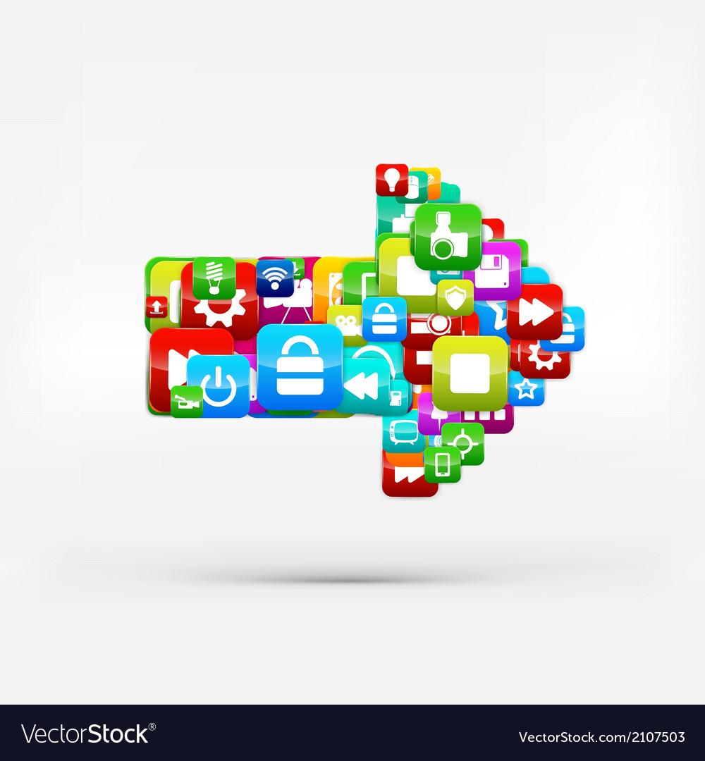 Application buttonsocial mediacloud computing vector | Price: 1 Credit (USD $1)