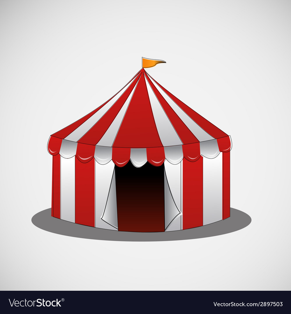 Circus tent on a bright background vector | Price: 1 Credit (USD $1)
