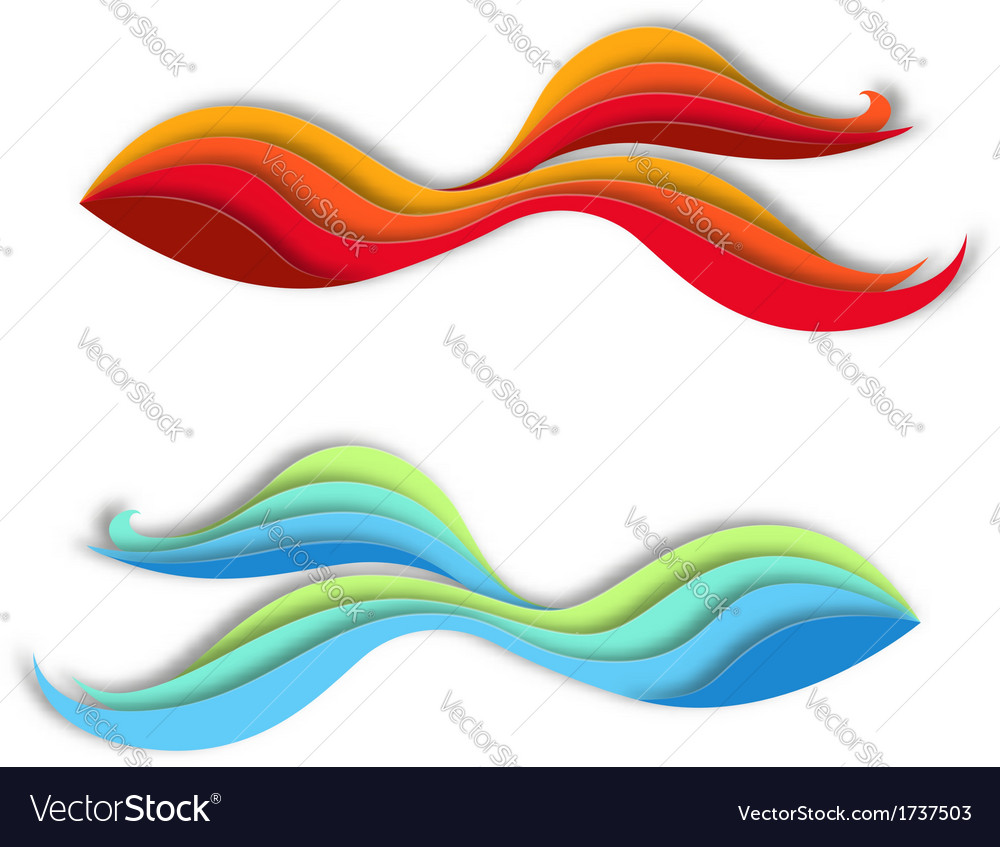 Creative fish signs vector | Price: 1 Credit (USD $1)